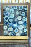 Blauer Luxusachat im Dekor Stockfoto