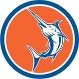 Blauer Marlin Circle Cartoon Lizenzfreies Stockbild