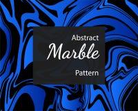 Blauer Marmor kopierter Beschaffenheitshintergrund lizenzfreie abbildung