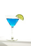 Blauer Martini Stockfoto