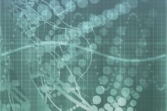 Blauer medizinische Wissenschafts-Technologie-Auszug lizenzfreie abbildung