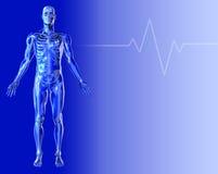 Blauer medizinischer Hintergrund 2 Lizenzfreie Stockbilder