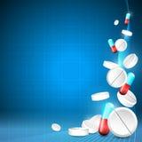 Blauer medizinischer Hintergrund stock abbildung
