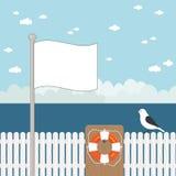 Blauer Meerblick Lizenzfreies Stockfoto