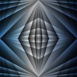 Blauer metallischer abstrakter Überfahrt-Licht-Hintergrund lizenzfreie abbildung