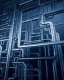 Blauer Metallstahlrohrhintergrund Vektor Abbildung