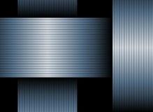 Blauer mit einem Band versehener Hintergrund Stockfotos