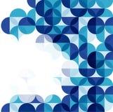 Blauer moderner geometrischer abstrakter Hintergrund Stockfotos