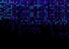 Blauer moderner geometrischer Hexagonzusammenfassungshintergrund Lizenzfreie Stockfotografie