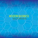 Blauer moderner Technologiehintergrund stock abbildung