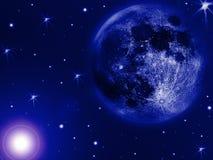 Blauer Mond Stockfotografie