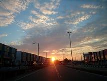 Blauer Morgen Lizenzfreies Stockfoto