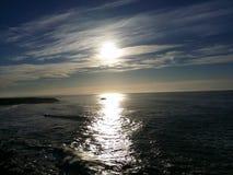 Blauer Morgen Stockbild