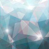 Blauer Mosaikdreieckhintergrund Stockbild
