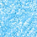 Blauer Mosaikhintergrund - nahtlos Stockbild