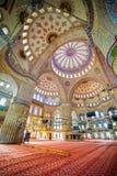 Blauer Moschee-Innenraum Stockfoto