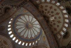 Blauer Moschee-Innenraum Stockfotografie