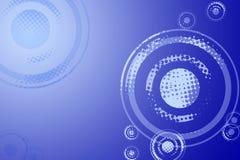 Blauer Musik-Hintergrund Stockfotos