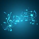 Blauer Musikhintergrund Lizenzfreie Stockbilder