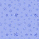 Blauer nahtloser Hintergrund von Schneeflocken Stockfoto