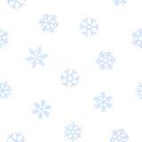 Blauer nahtloser Hintergrund von Schneeflocken Lizenzfreie Stockbilder