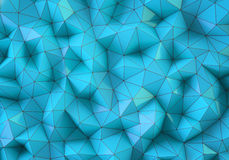 Blauer niedriger Polyhintergrund Lizenzfreies Stockbild