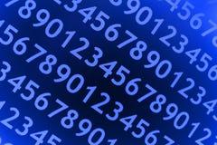 Blauer numerischer Hintergrund Lizenzfreies Stockfoto