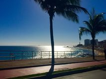 Blauer Ozean und blauer Himmel Lizenzfreies Stockfoto