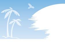 Blauer Palmenauszug Stockbilder