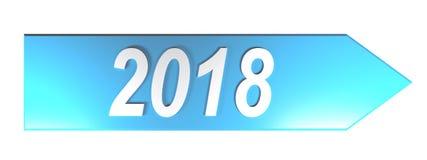 Blauer Pfeil 2018 - Wiedergabe 3D stock abbildung
