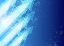 Blauer Pfeilauszugshintergrund Stockfotos