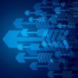 Blauer Pfeilhintergrund lizenzfreie abbildung