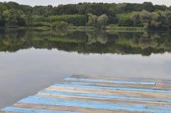 Blauer Pier Stockfotografie