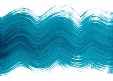 Blauer Pinselstrich Lizenzfreie Stockfotos