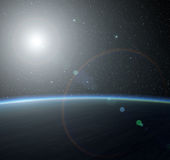 Blauer Planet Stockbild