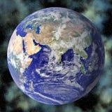Blauer Planet der Erde im Platz Stockbild