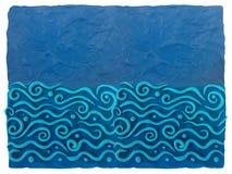 Blauer Plasticinehintergrund mit Raum für Text stockbild