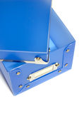 Blauer Plastikkasten Lizenzfreies Stockbild