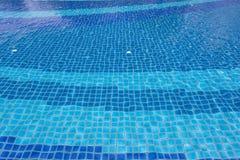Blauer Poolwasser-Beschaffenheitshintergrund Lizenzfreie Stockfotografie