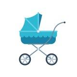 Blauer Pram für Kind Stockfoto