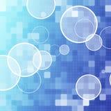 Blauer Punktauszugshintergrund Stockfotografie