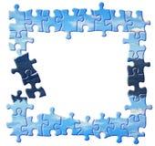 Blauer Puzzlespielrand Lizenzfreie Stockbilder
