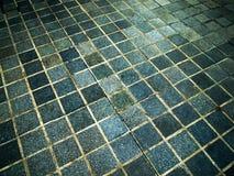 Blauer quadratischer Stein Stockfotografie