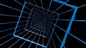 Blauer quadratischer Tunnel