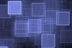 Blauer quadrierter Hintergrund Stockfotografie