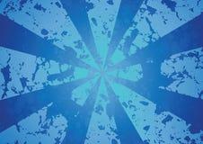 Blauer Radiuszusammenfassungshintergrund Stockfoto