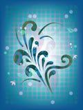 Blauer Rasterhintergrund Stockfoto
