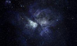 Blauer Raum-Hintergrund Lizenzfreies Stockfoto