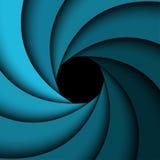Blauer Regenbogenstrudel, einfacher Hintergrund Lizenzfreie Stockbilder