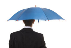 Blauer Regenschirm Stockfotografie